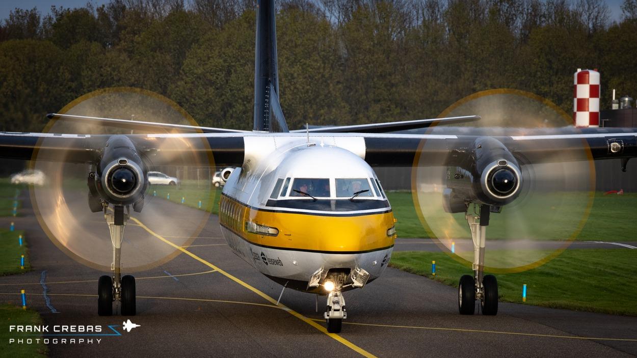De F27 Excalibur aankomst op Lelystad - foto Frank Crebas