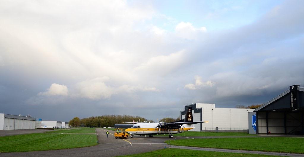 De F27 Excalibur komt voor het eerst aan op Lelystad in 2020