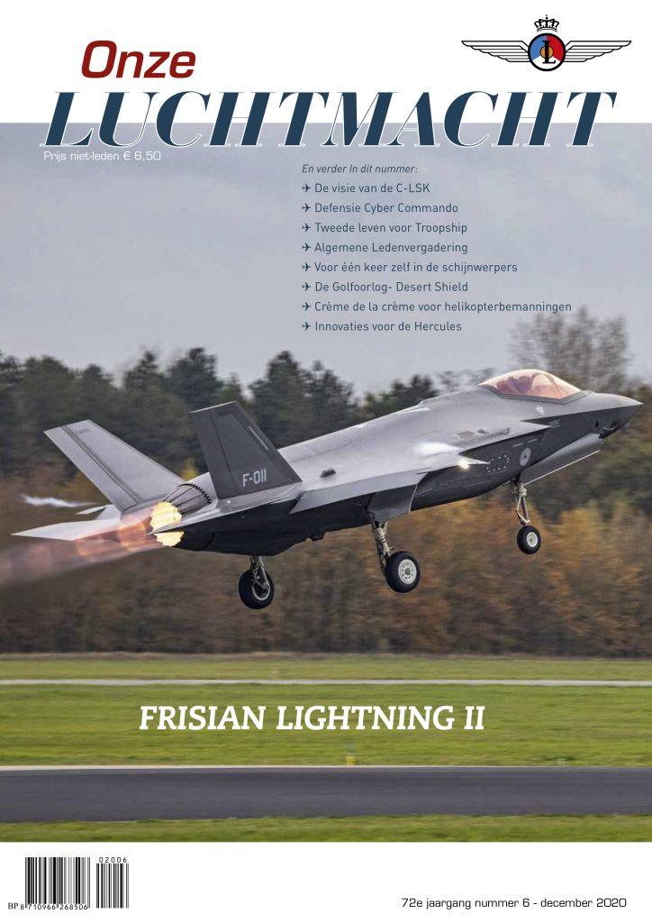 afbeelding van de voorpagina van tijdschift Onze Luchtmacht nr 6 2020